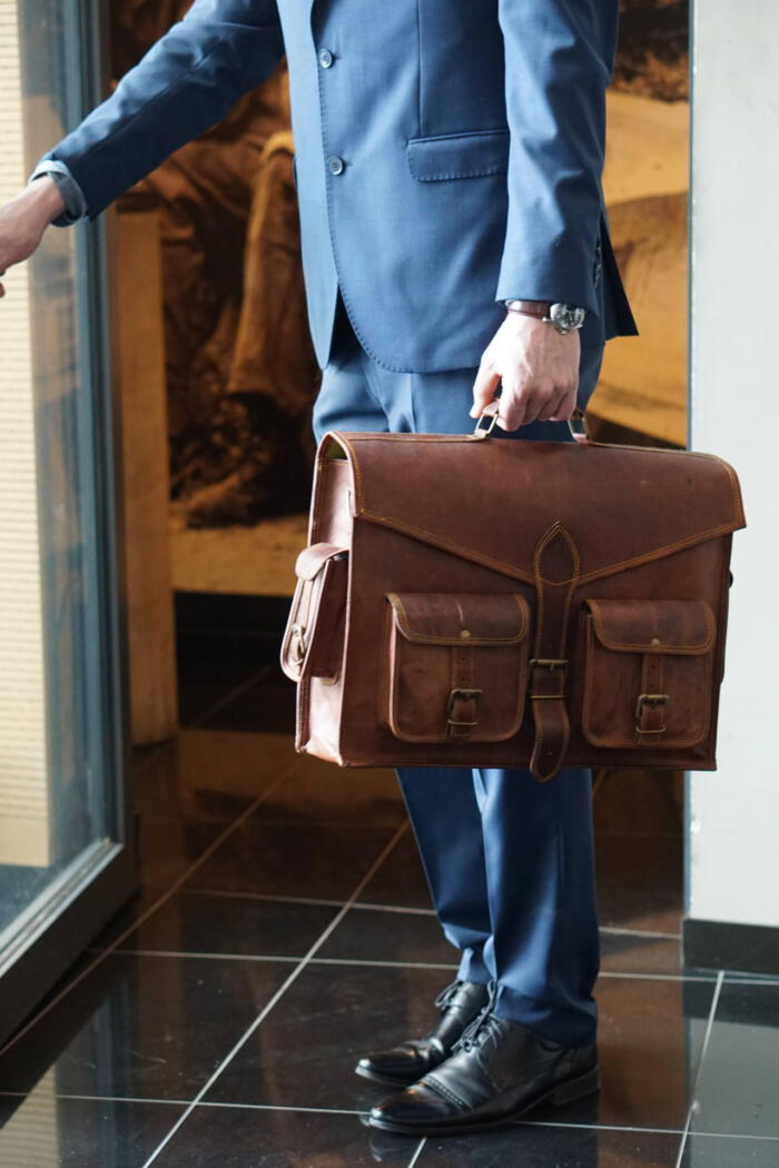 Skórzana torba na laptop