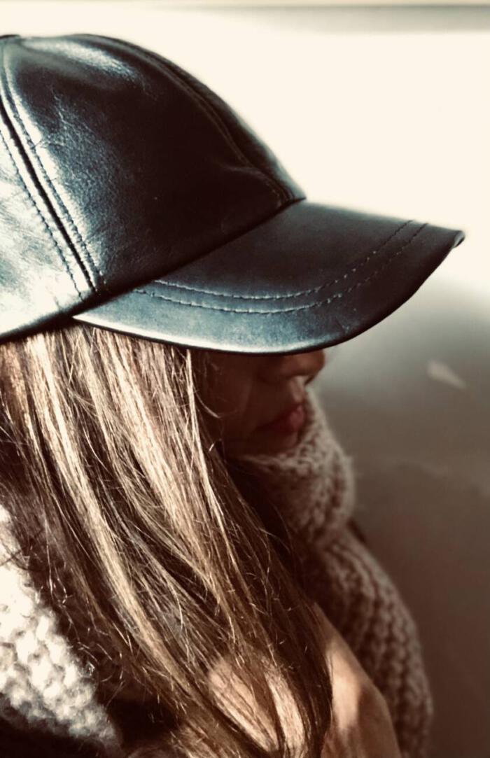 Skórzana czapka
